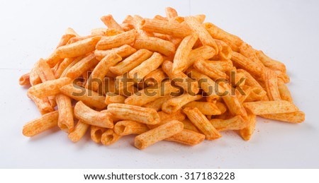 Junk food on a background - stock photo