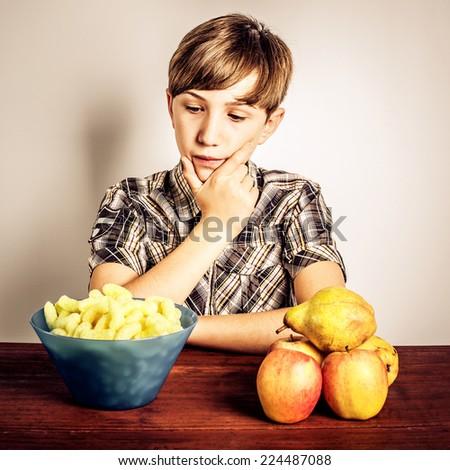 junk food vs healthy food - stock photo