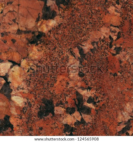 Juparana Bordeaux Granite / Surface of the granite with bordeaux, red and black tint for background - stock photo