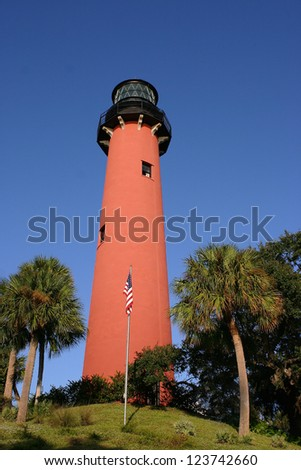Jupiter, FL Lighthouse - stock photo