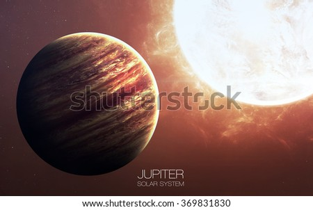 Jupiter - High resolution images presents planets of the solar system. This image elements furnished by NASA. - stock photo