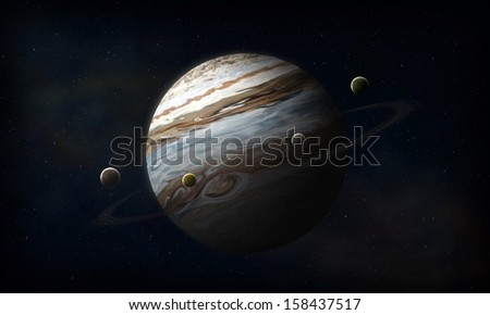 Jupiter planet in space
