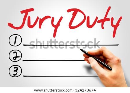 Jury Duty blank list concept - stock photo