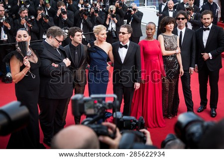 Jury. Opening Ceremony 'La Tete Haute' Premiere. 68th Annual Cannes Film Festival at Palais des Festivals on May 13, 2015 in Cannes, France. - stock photo