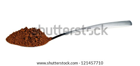 Just a spoon full of coffee - stock photo