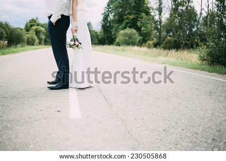 just married couple - stock photo