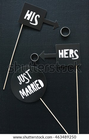 Just married - ring decoration