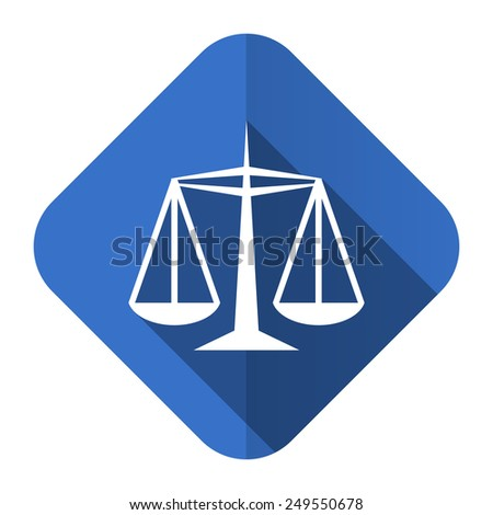 justice flat icon law sign  - stock photo