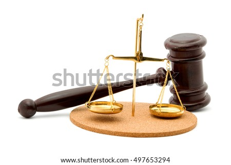 justice gavel studio isolated
