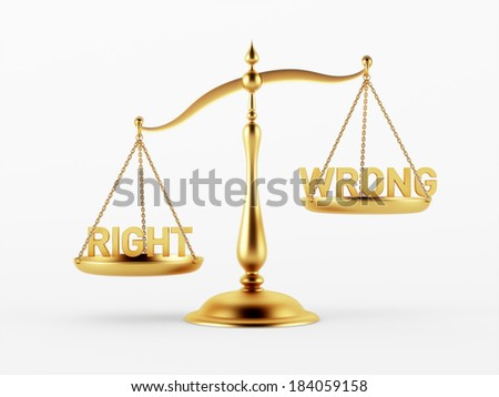 Justice Scale Concept isolated on white background