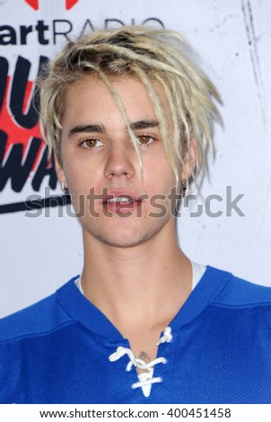 Justin Bieber at the 2016 iHeartRadio Music Awards - Press Room held at the Forum in Inglewood, USA on April 3, 2016. - stock photo