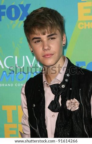 Justin Bieber at the 2011 Teen Choice Awards, Universal Amphitheater, Universal City, CA. 08-07-11 - stock photo
