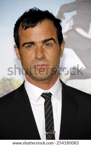 "Justin Theroux at the Los Angeles Premiere of ""Wanderlust"" held at the Mann Village Theatre in Los Angeles, California, United States on February 16, 2012."
