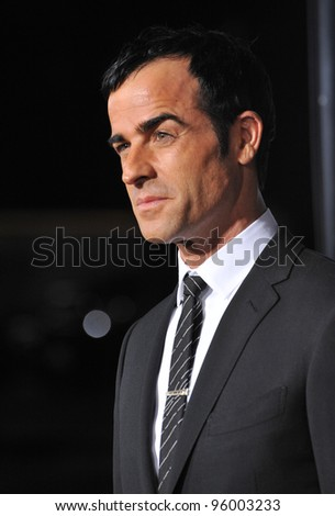 "Justin Theroux at the world premiere of his new movie ""Wanderlust"" at the Mann Village Theatre, Westwood.  February 16, 2012  Los Angeles, CA Picture: Paul Smith / Featureflash"