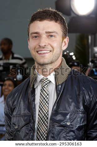 Justin Timberlake at the Los Angeles premiere of 'Love Guru' held at the Grauman's Chinese Theater in Hollywood on June 11, 2008.