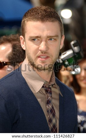 "Justin Timberlake at the Los Angeles Premiere of ""Shrek The Third"". Mann Village Theatre, Westwood, CA. 05-06-07"