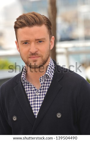 "Justin Timberlake at the photocall for his movie ""Inside Llewyn Davis"" in competition at the 66th Festival de Cannes. May 19, 2013  Cannes, France"
