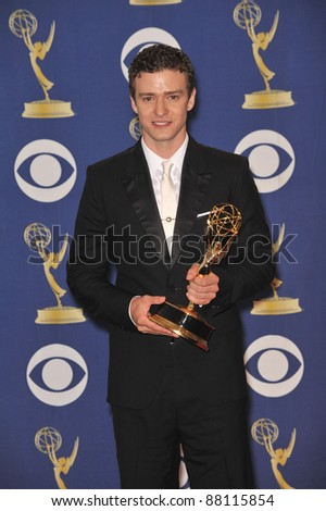Justin Timberlake at the 61st Primetime Emmy Awards at the Nokia Theatre L.A. Live. September 20, 2009  Los Angeles, CA Picture: Paul Smith / Featureflash