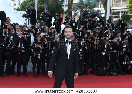 "Justin Timberlake attends the ""Cafe Society"" & Opening Gala during the 69th Annual Cannes Film Festival, held at palais du festival, on 11 May 2016 in Cannes France."