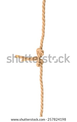Jute knot. Isolated on white background