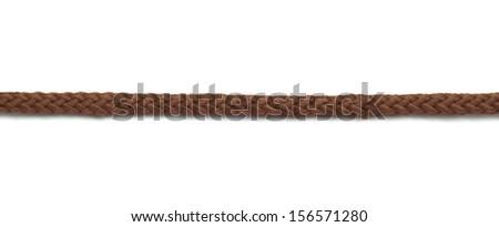 Jute rope isolated on white background - stock photo