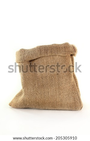 jute sack - stock photo