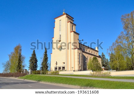 Jyvaskyla, Finland. Lutheran Church of the Angels in Taulumaki