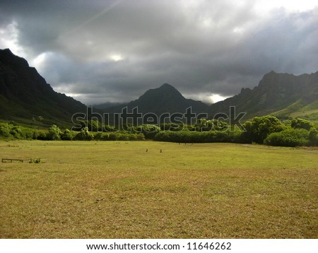 Kaaawa, Oahu - stock photo