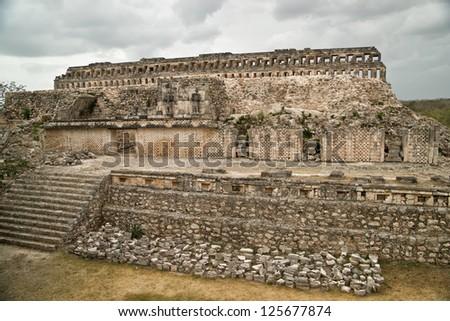 Kabah main palace. - stock photo