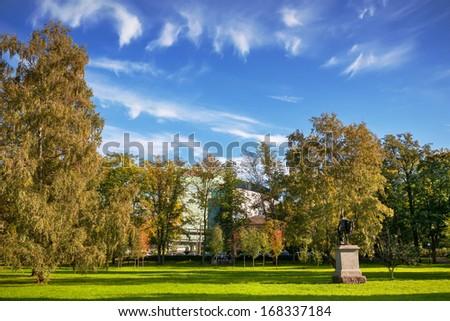 Kadriorg park at Tallinn. Estonia, Europe - stock photo