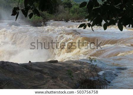 Kaeng Song Waterfall, famous tourist attraction in Phitsanulok, Thailand