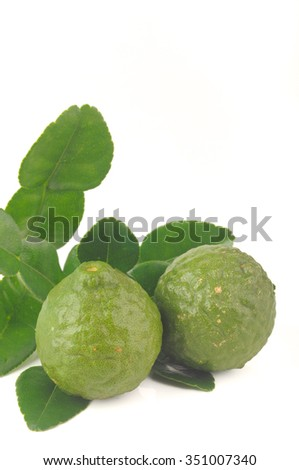 Kaffir Lime with leaves (shallow depth of field)