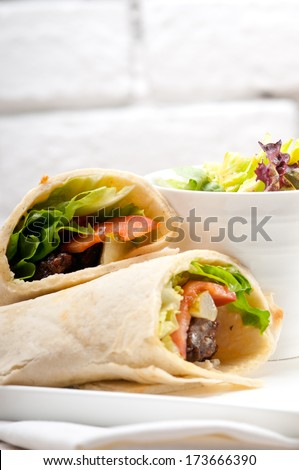 Chicken shawarma roll - photo#42