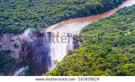 Kaieteur Falls, a waterfall on the Potaro River in central Essequibo Territory, Guyana, South America - stock photo