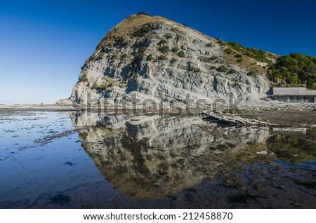 kaikoura sea rock, new zeland - stock photo