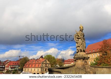 Kaiserin Kunigunde statue in Bamberg, Germany  - stock photo