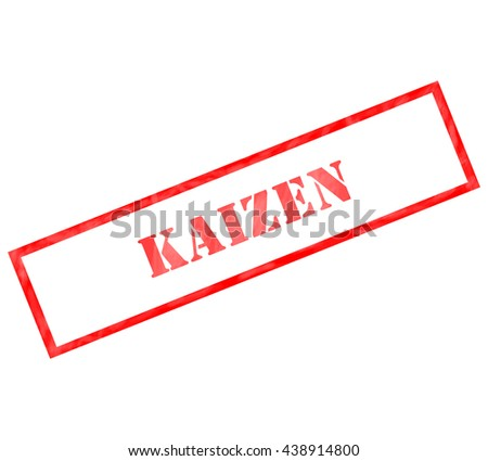 Kaizen red grunge rectangle stamp making a great concept - stock photo