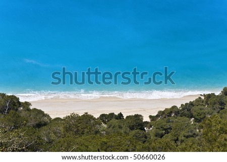Kalamitsi beach at Lefkada island, Greece - stock photo