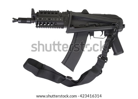 Kalashnikov AK shorty with modern update isolated on white