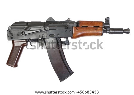 kalashnikov AK 74U isolated on a white background