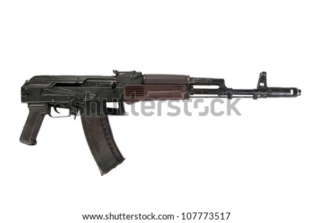 kalashnikov aks74 isolated on a white background