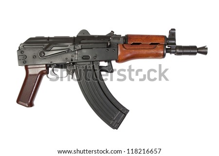 kalashnikov isolated on a white background