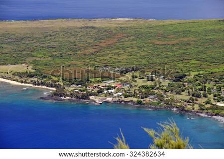 Kalaupapa Lookout, Molokai, Hawaii-2 - stock photo