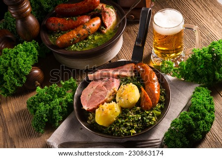 Kale or borecole - stock photo