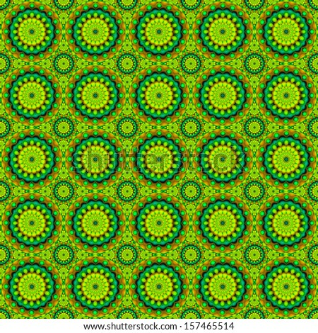kaleidoscope fabric seamless pattern - stock photo
