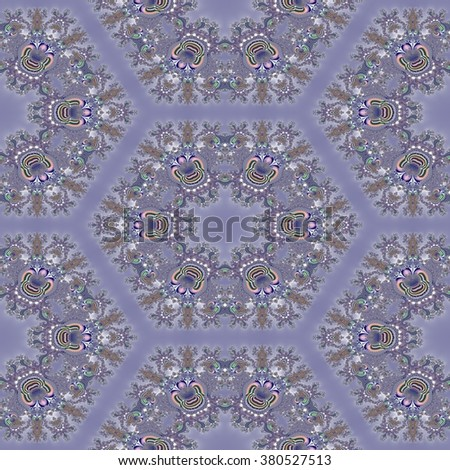 Kaleidoscopic abstract seamless generated texture