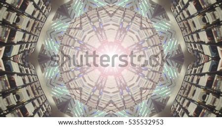 Kaleidoscopic Background - Beautiful Geometrical Symmetry (Library)