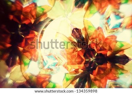 Kaleidoscopic pattern - stock photo