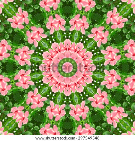 kaleidoscopic synthetic Art background, complex geometry filigree pattern. - stock photo