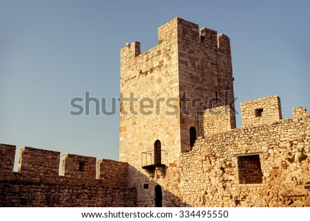 Kalemegdan, Belgrade fortress. Serbia. Color tone tuned photo - stock photo